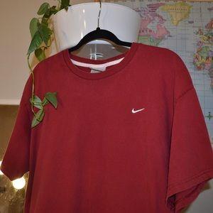 Vintage Nike gray tag maroon T-shirt